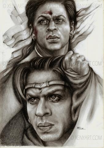 asoka. srk. illustration book. bollywood. shah rukh khan