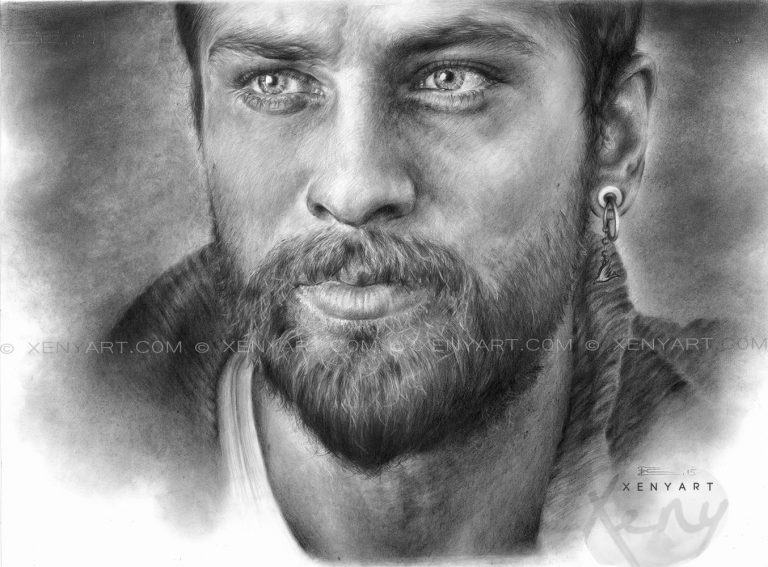 portrait of an actor. onur tuna. drawing. art. artist
