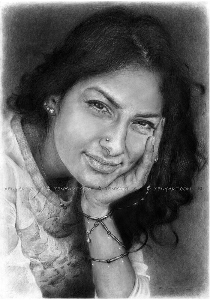 portrait of a woman. drawing. art